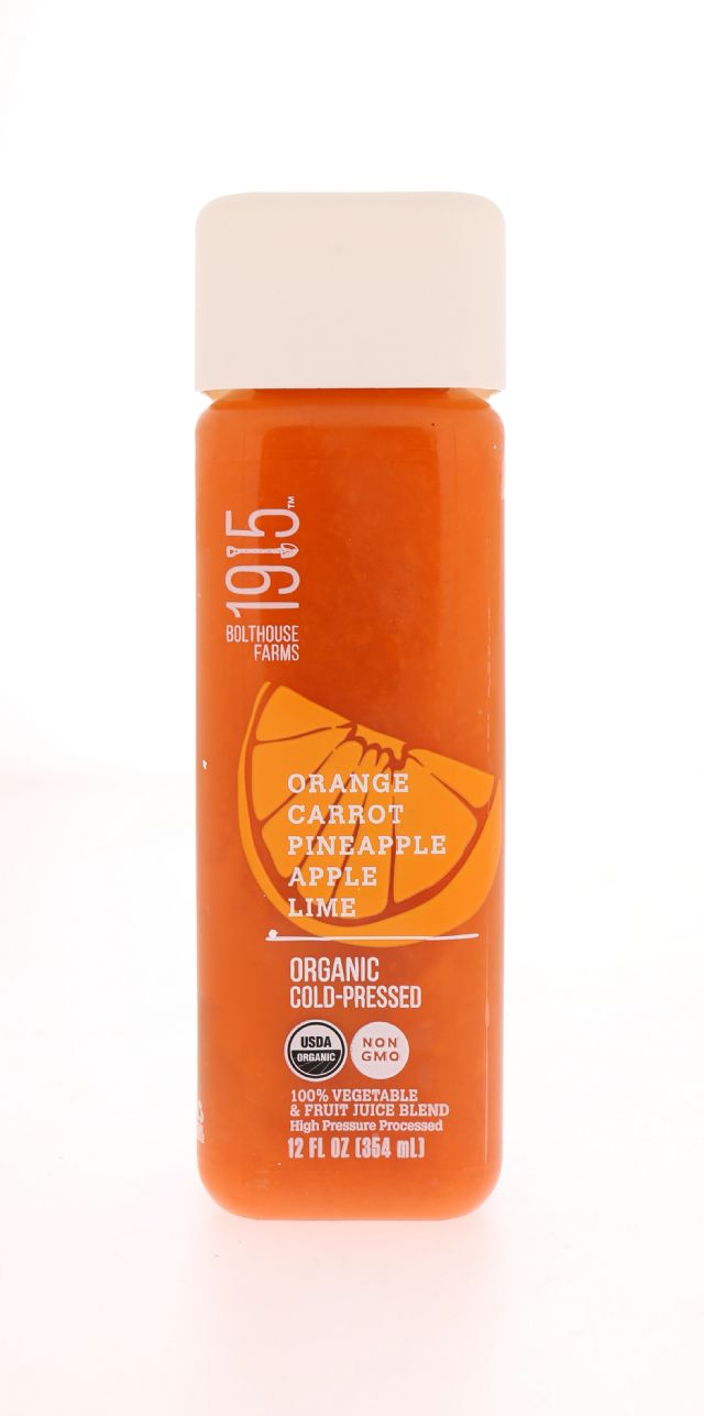 1915 Cold-pressed Organic Juice: BF1915_Orange Front
