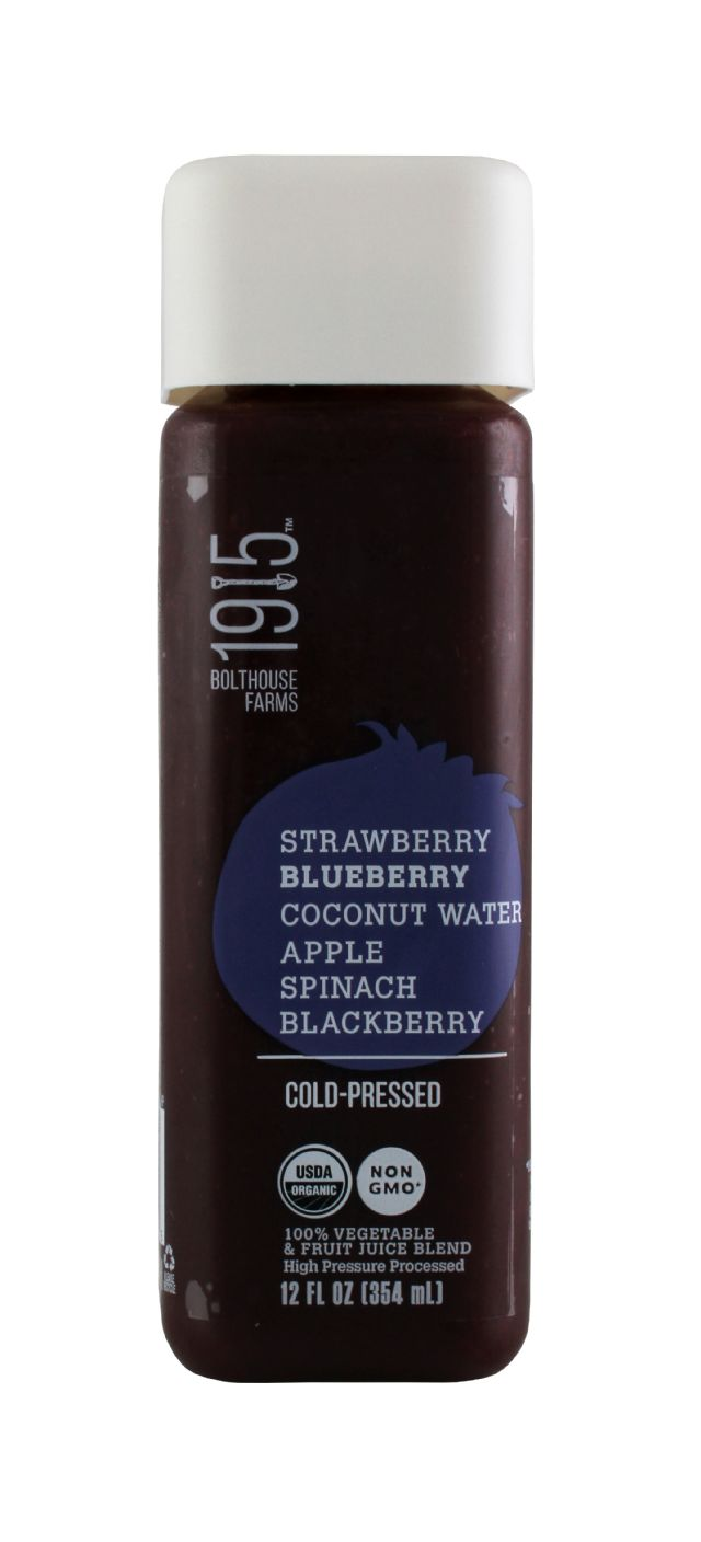1915 Cold-pressed Organic Juice: BF1915 StrawBlue Front