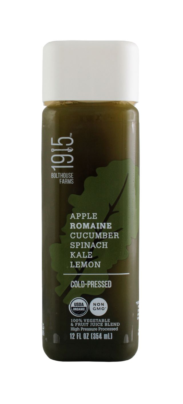 1915 Cold-pressed Organic Juice: BF1915 AppleRomaine Front