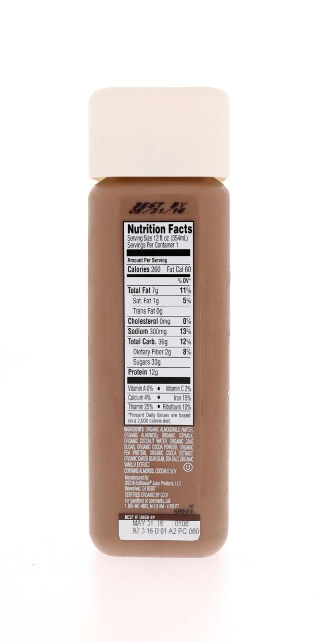1915 Organic Protein: BF1915_Choco Facts