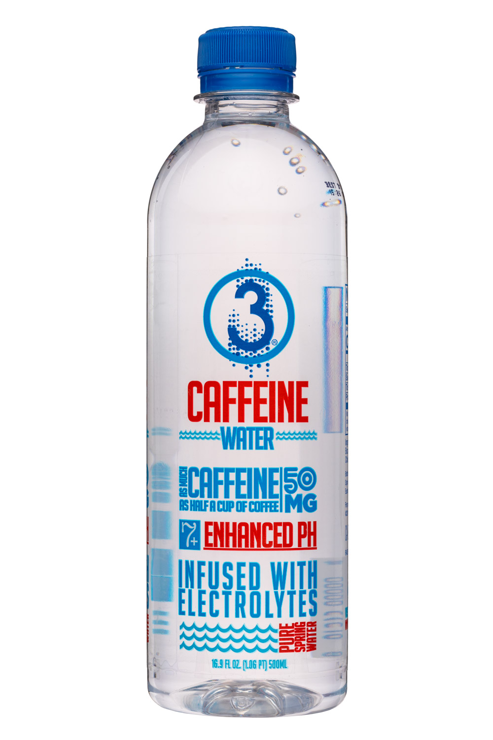 3 Water: Drink3Water-17oz-CaffeineWater-Front