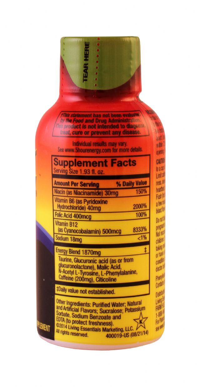 5-hour Energy: 5Hour CitrusLime Facts