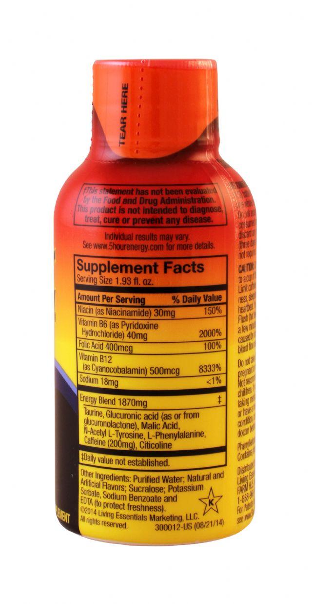 5-hour Energy: 5Hour Orange Facts