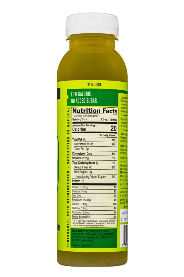 Daily Greens Green ADE: DailyGreens-12oz-GreenSuperfood-LimeBasil-Facts
