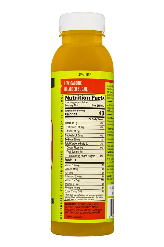 Daily Greens Green ADE: DailyGreens-12oz-GreenSuperfood-OrangeTurmeric-Facts