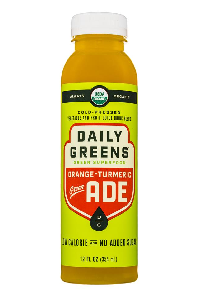 Daily Greens Green ADE: DailyGreens-12oz-GreenSuperfood-OrangeTurmeric-Front