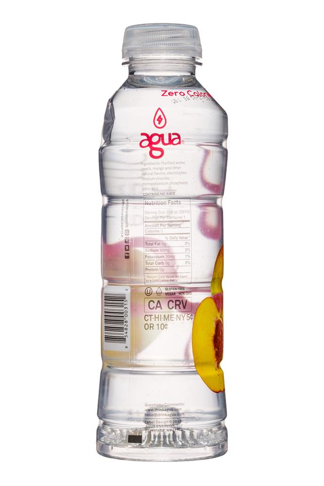 Agua Fruit Essence: Agua-FruitEssence-20oz-Mango-Facts