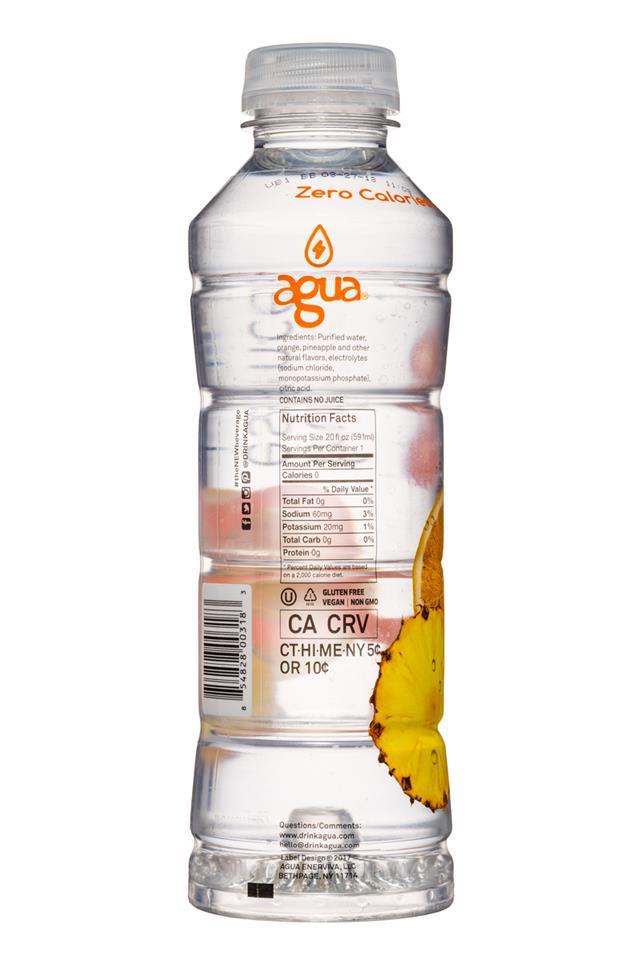 Agua Fruit Essence: Agua-FruitEssence-20oz-Pineapple-Facts
