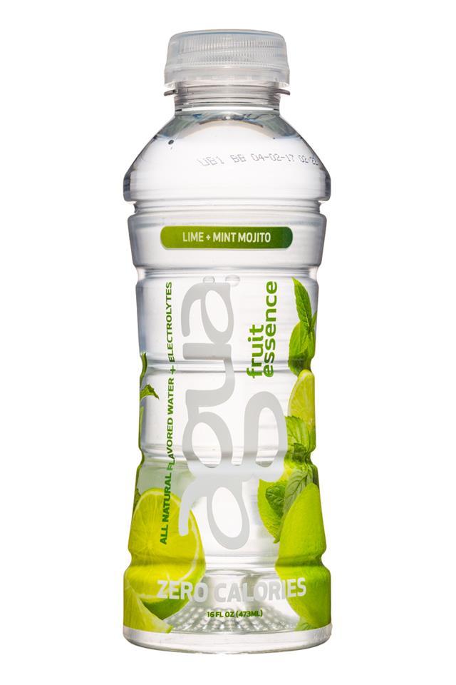 Agua Fruit Essence: Agua-FruitEssence-16oz-LimeMintMojito-Front