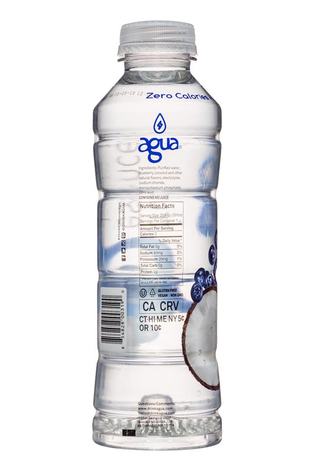 Agua Fruit Essence: Agua-FruitEssence-20oz-Coconut-Facts