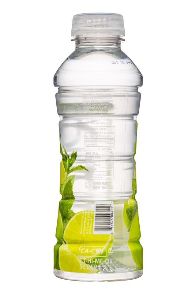Agua Fruit Essence: Agua-FruitEssence-16oz-LimeMintMojito-Facts