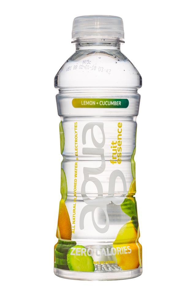 Agua Fruit Essence: Agua-FruitEssence-16oz-LemonCucumber-Front