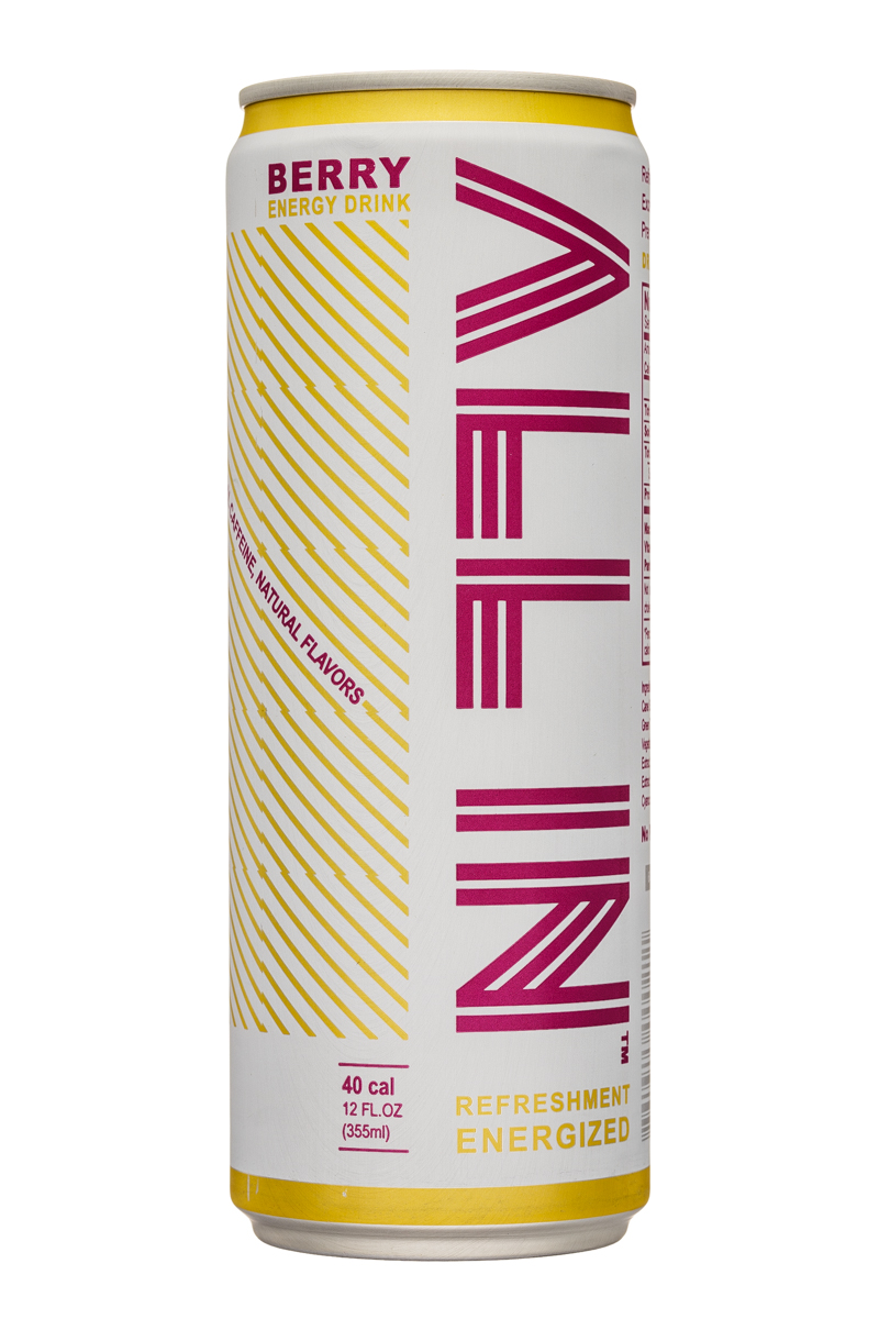 All In: Allin-12oz-EnergyDrink-Berry-Front