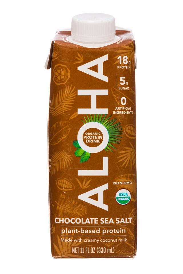 Aloha: Aloha-11oz-PlantProtein-ChocSeaSalt-Front