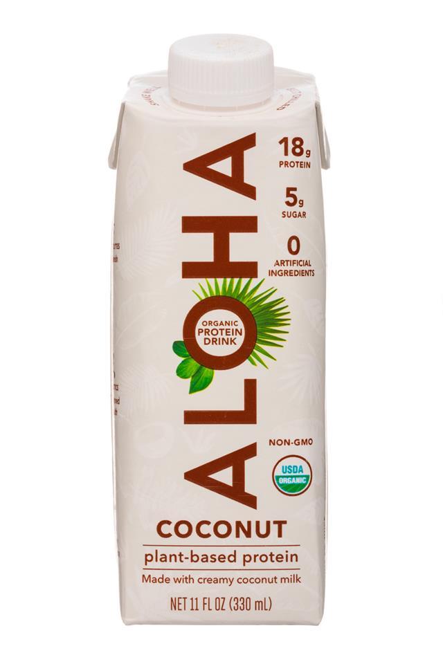Aloha: Aloha-11oz-PlantProtein-Coconut-Front