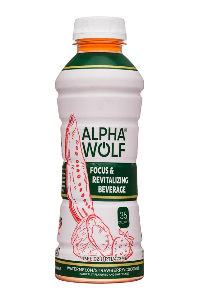 Alpha Wolf: AlphaWolf-16oz-Focus-WatermelonStrawberryCoconut-Front