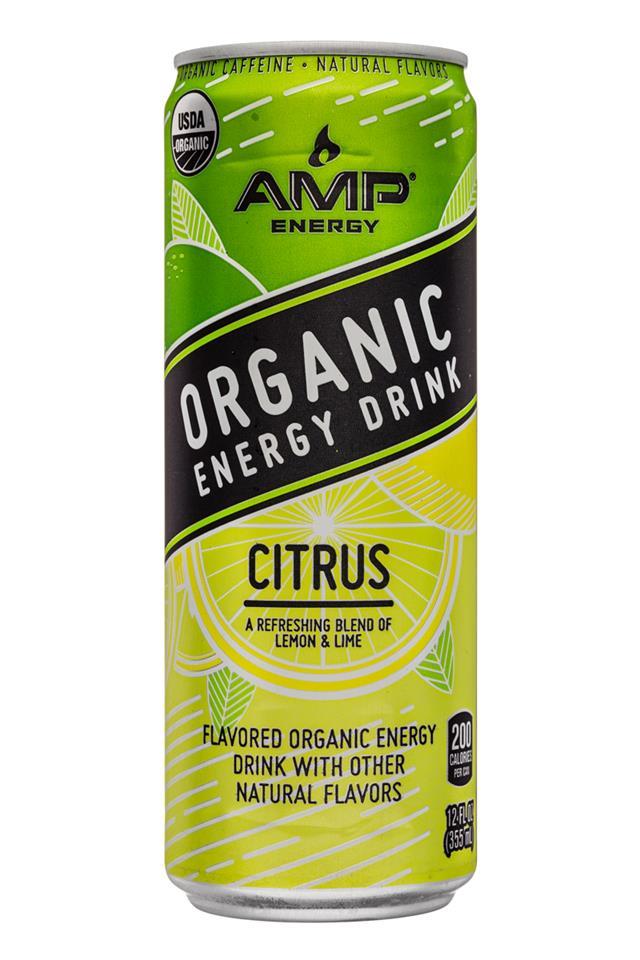 AMP Energy Organic: Amp-Energy-12oz-Citrus-Front