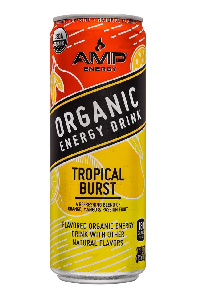 AMP Energy Organic: Amp-Energy-12oz-TropicalBurst-Front