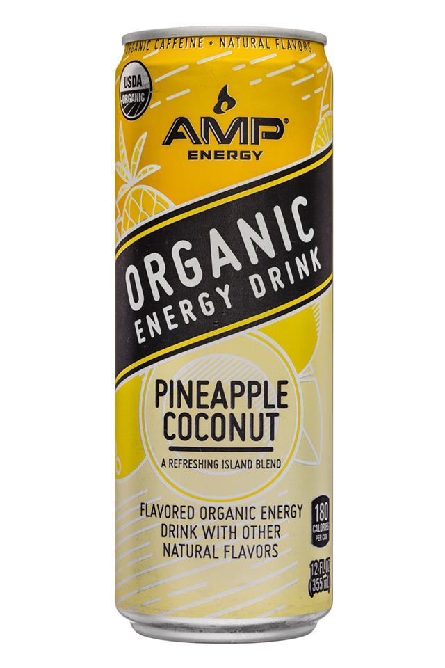 AMP Energy Organic: Amp-Energy-12oz-PineappleCoconut-Front