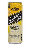 AMP Energy Organic: Amp-Energy-12oz-PineappleCoconut-Front