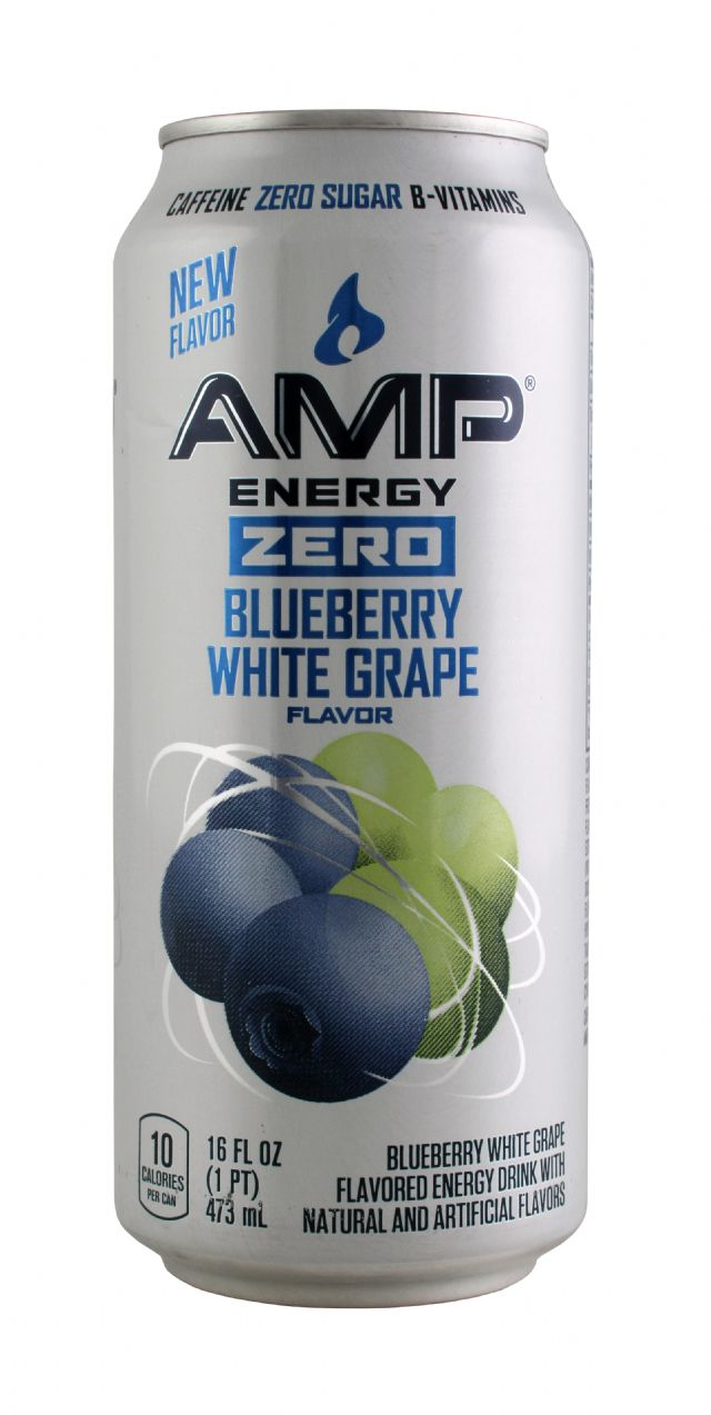 AMP Energy Drink: Amp BlueWhite Front
