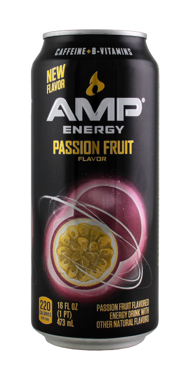 AMP Energy Drink: Amp PassionFruit Front