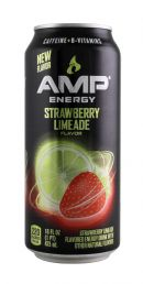 AMP Energy Drink: Amp StrawLime Front