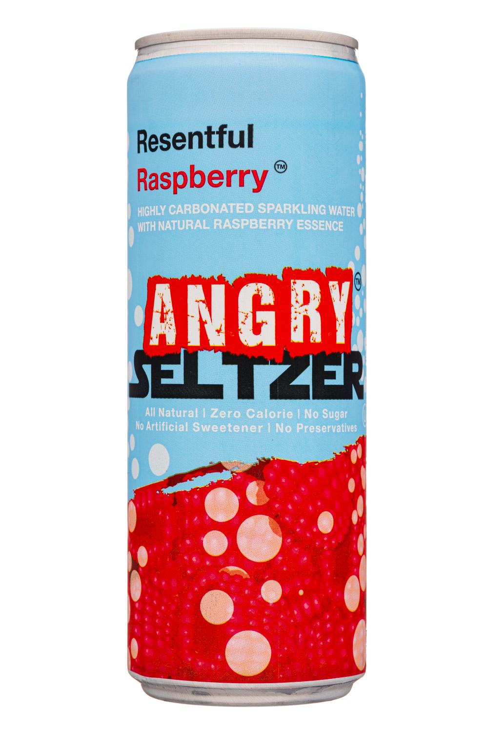 Angry Seltzer: AngrySeltzer-12oz-2020-ResentfulRaspberry-Front