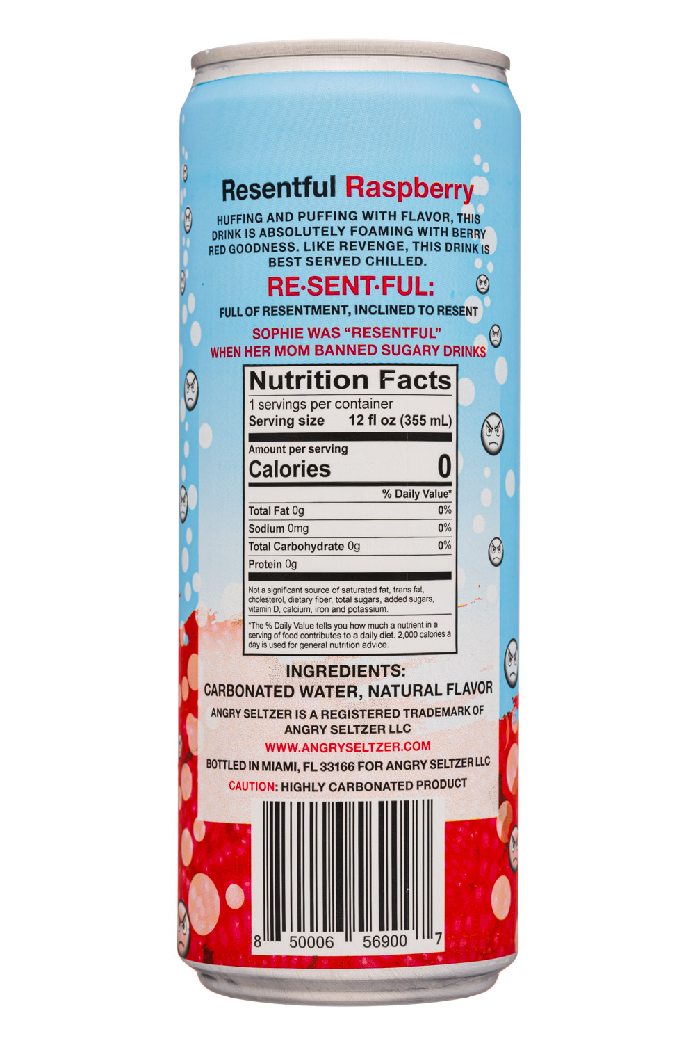 Angry Seltzer: AngrySeltzer-12oz-2020-ResentfulRaspberry-Facts