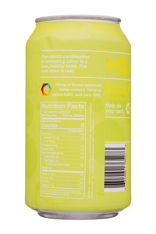 Aprch CBD: Aprch-12oz-2020-CBDSparkling-LemonLime-Facts