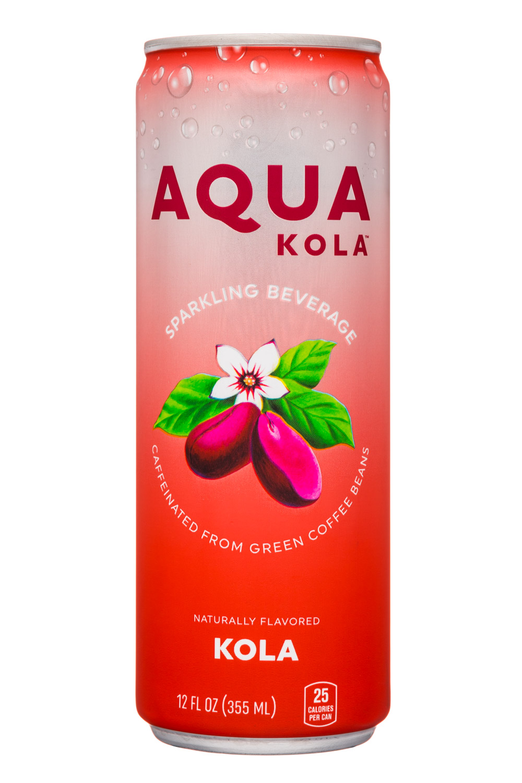 Aqua Kola: AquaKola-12oz-Sparkling-Kola-Front