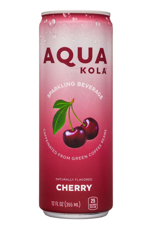 Aqua Kola: AquaKola-12oz-Sparkling-Cherry-Front