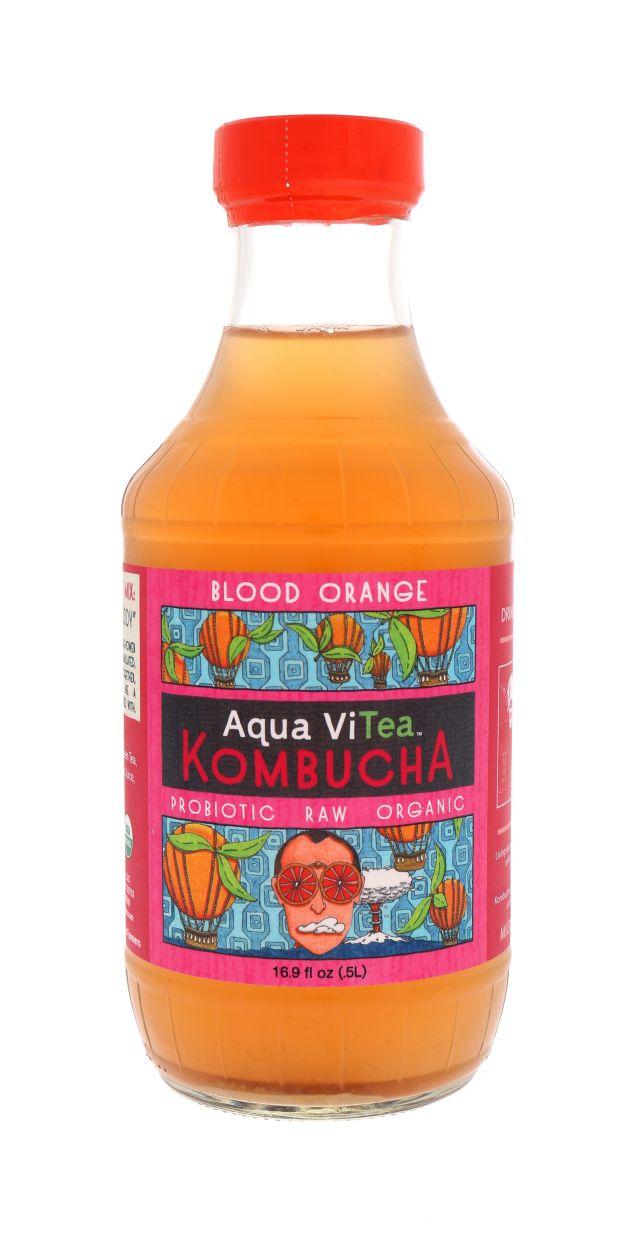 Aqua ViTea Kombucha: AquaViTea BloodOrange Front