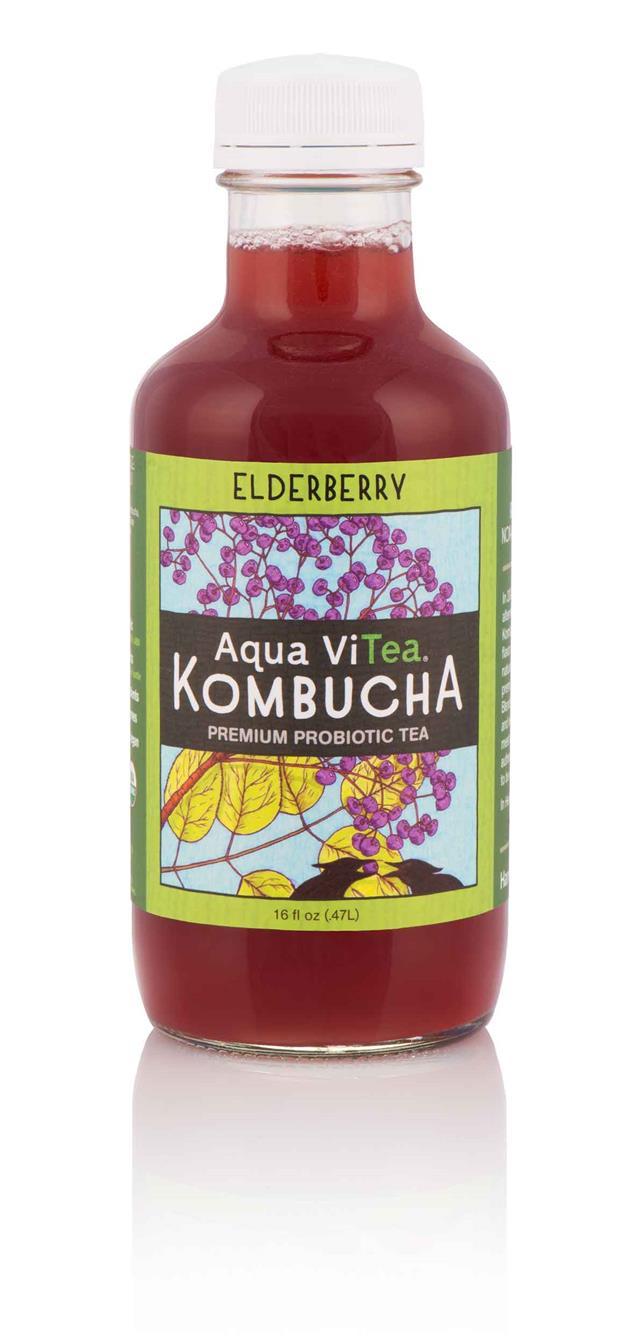Aqua ViTea Kombucha: Elderberry-Bottle