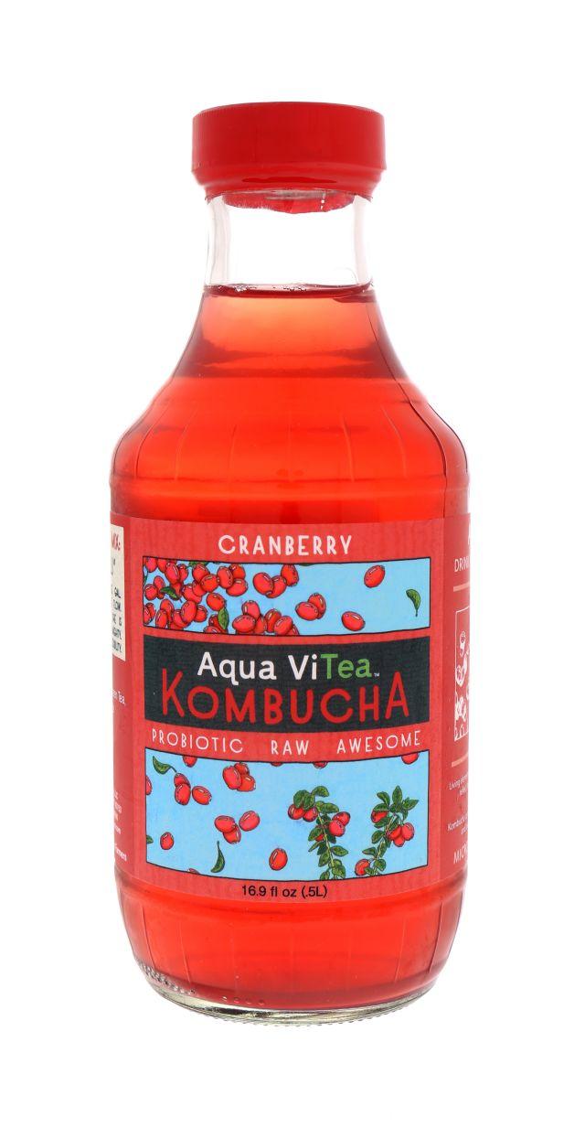 Aqua ViTea Kombucha: AquaViTea Cranberry Front