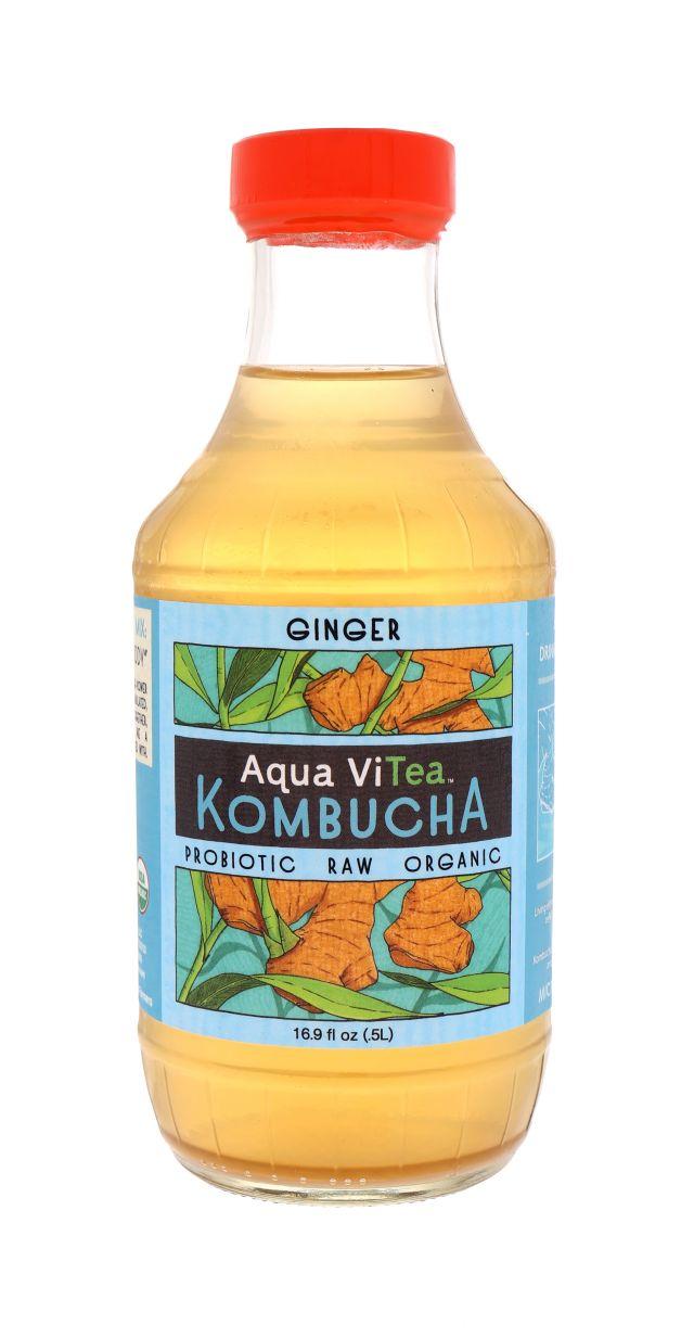 Aqua ViTea Kombucha: AquaViTea Ginger Front