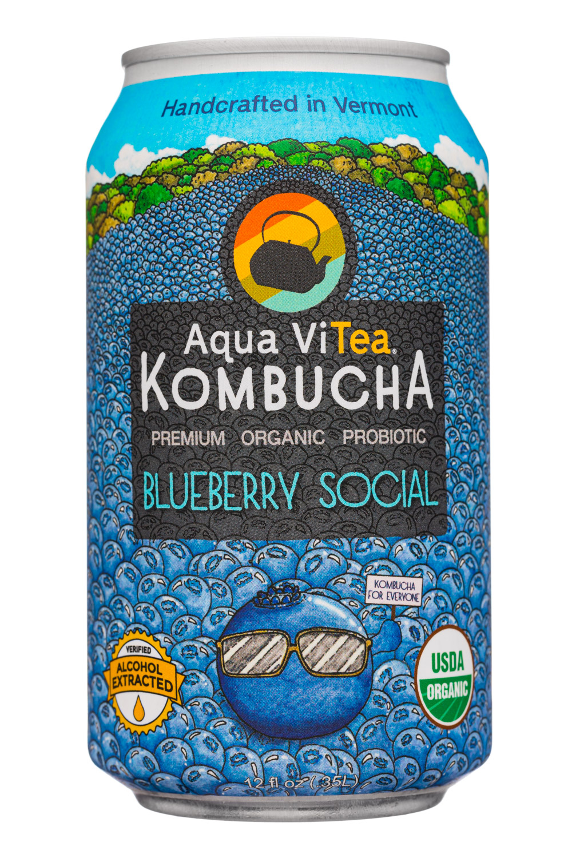 Aqua ViTea Kombucha: AquaVitea-12oz-2020-Kombucha-BluebSocial-Front