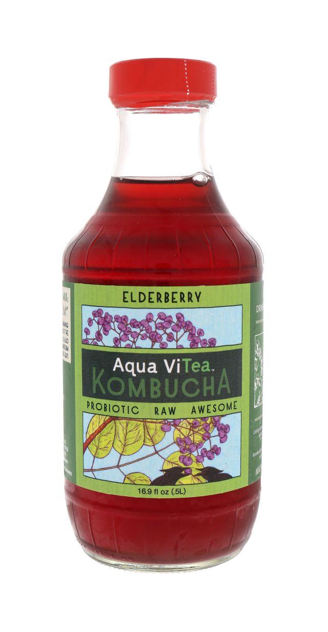 Aqua ViTea Kombucha: AquaViTea Elderberry Front