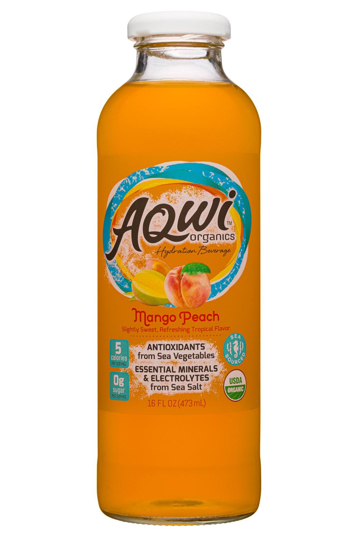 Aqwi Organics: Aqwi-16oz-MangoPeach-Front