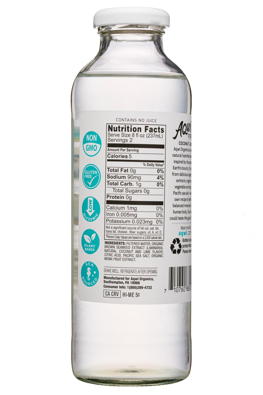 Aqwi Organics: Aqwi-16oz-CoconutLime-Facts