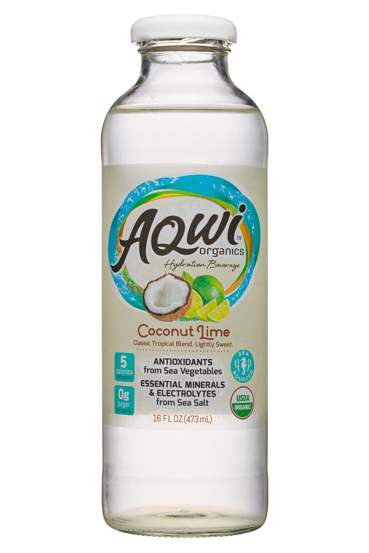 Aqwi Organics: Aqwi-16oz-CoconutLime-Front