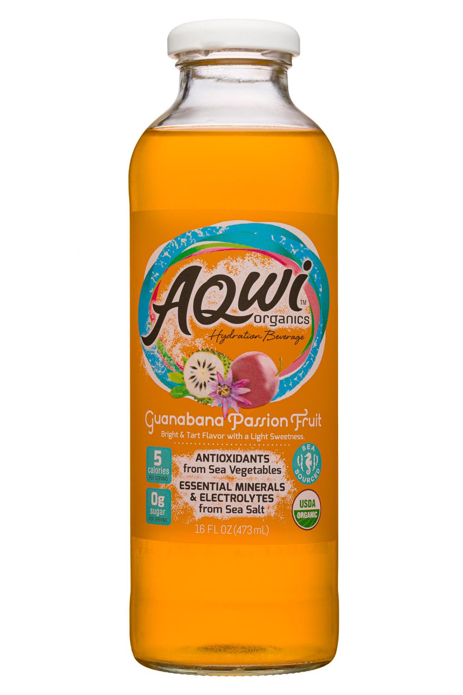 Aqwi Organics: Aqwi-16oz-GuanabanaPassionFruit-Front