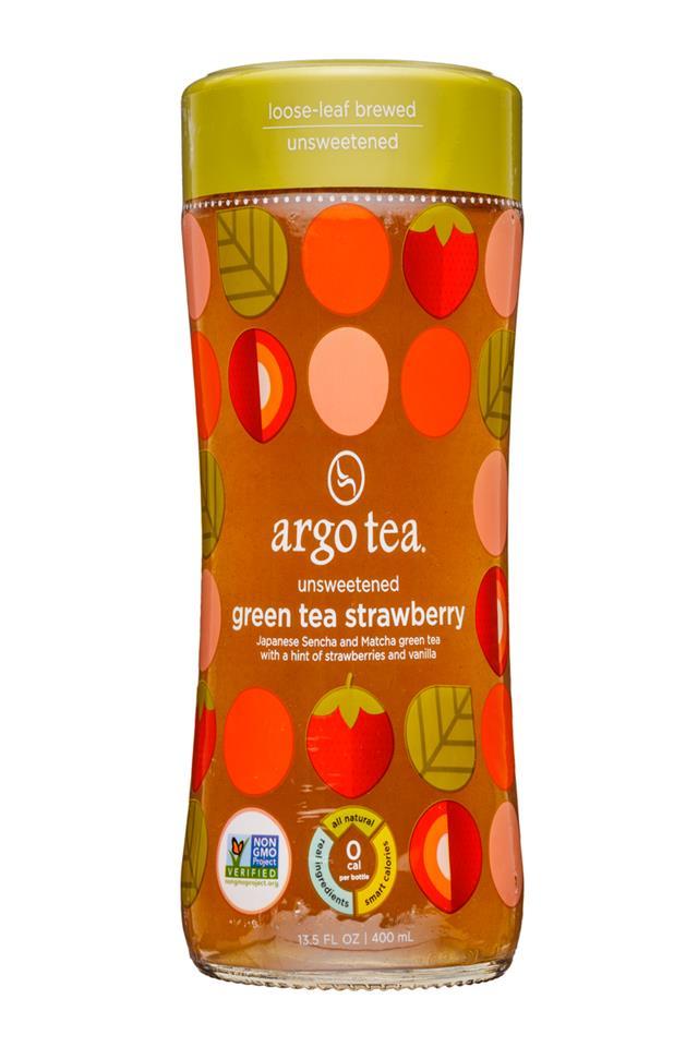 Argo Tea: ArgoTea-14oz-GreenTeaStrawberry-Front