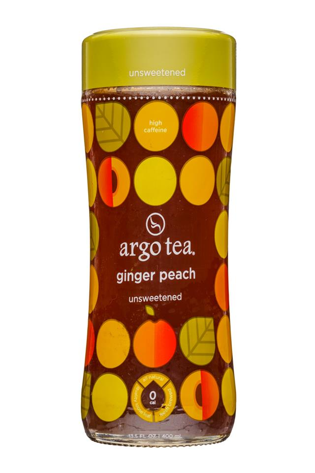 Argo Tea: ArgoTea-14oz-GingerPeach-Front