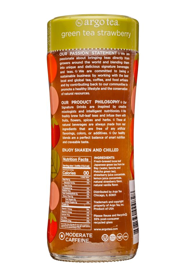 Argo Tea: ArgoTea-14oz-GreenTeaStrawberry-Facts