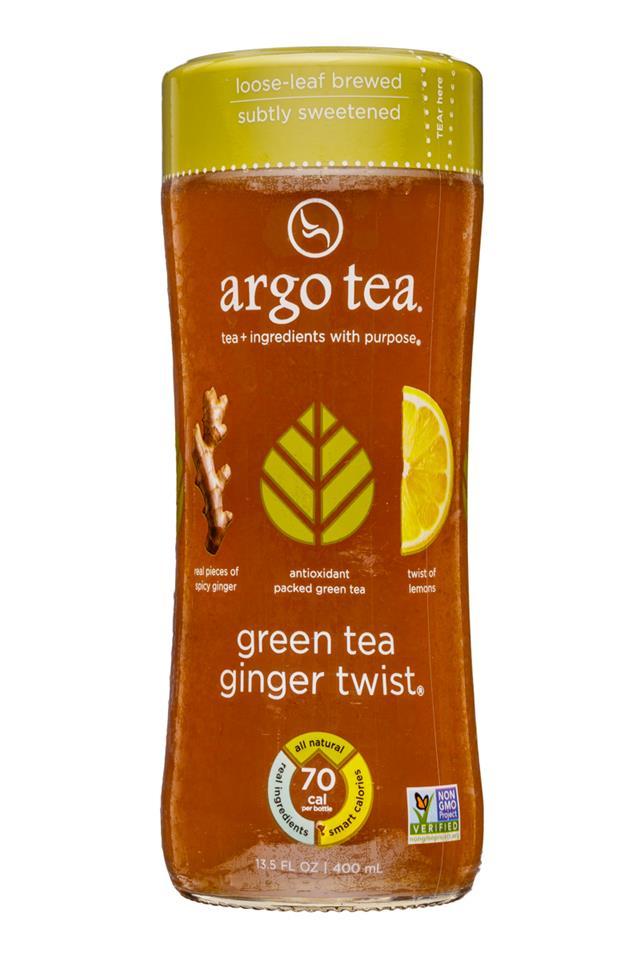 Argo Tea: ArgoTea-14oz-GreenTeaGingerTwist-Front