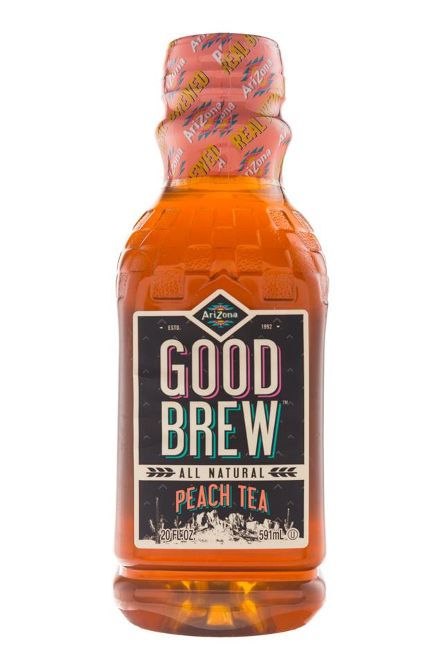 AriZona Good Brew: Arizona-20oz-GoodBrew-PeachTea-Front