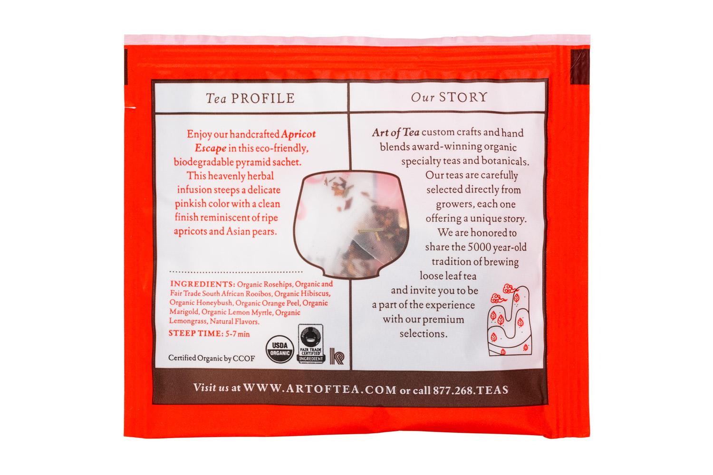 Art of Tea: ArtOfTea-SingleSachet-ApricotEscape-Facts