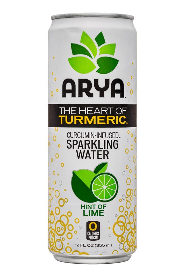 Arya: Arya-HeartOfTurmeric-12oz-SparkleWater-Lime-Front