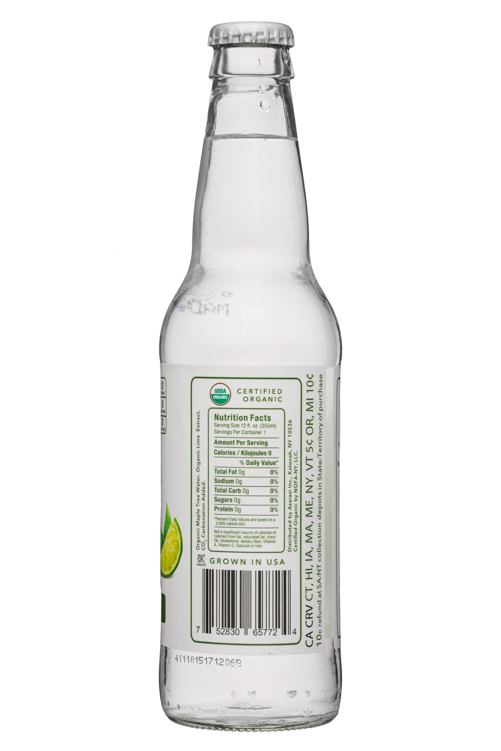 Asarasi: Asarasi-12oz-TreeWater-Lime-Facts